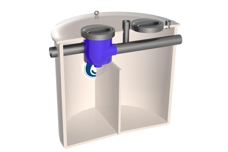 dep sito para el agua de lluvia con tapa sellada y filtro ForDeposito Agua Pluvial