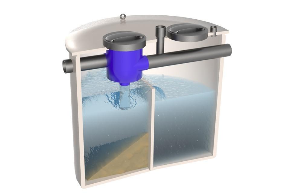 Dep sito para el agua de lluvia con tapa sellada y filtro - Deposito de agua de lluvia ...